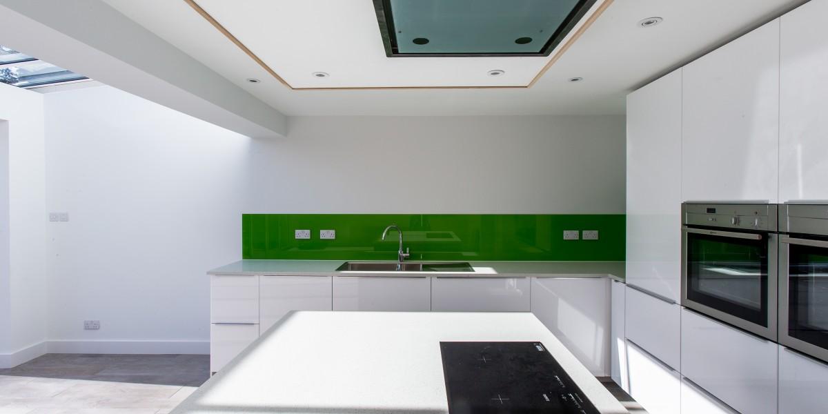 Island, hobs and sink, Harpenden kitchen extension