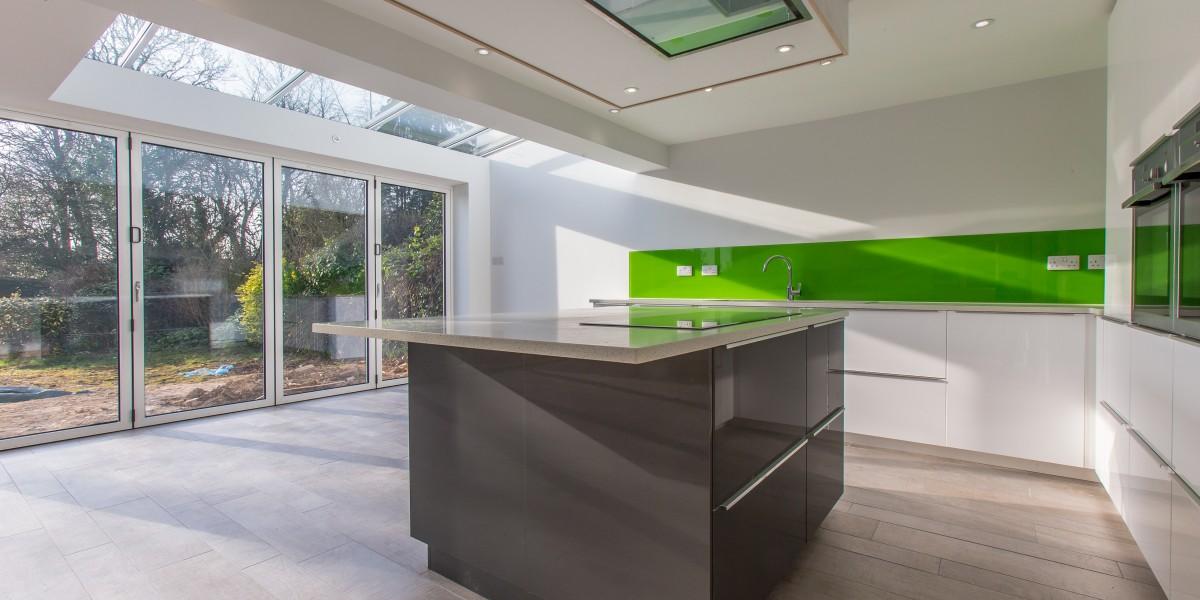 Island and patio doors, Harpenden kitchen extension