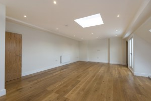 main room wooden floor duplex apartment design