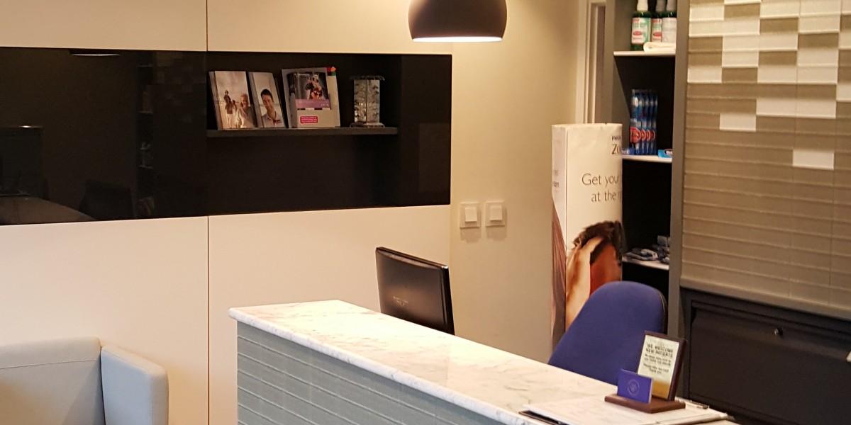 Reception desk at Cockfosters Dental Practice
