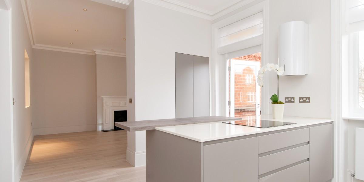 Kitchen, Goldhurst Terrace apartment refurbishment