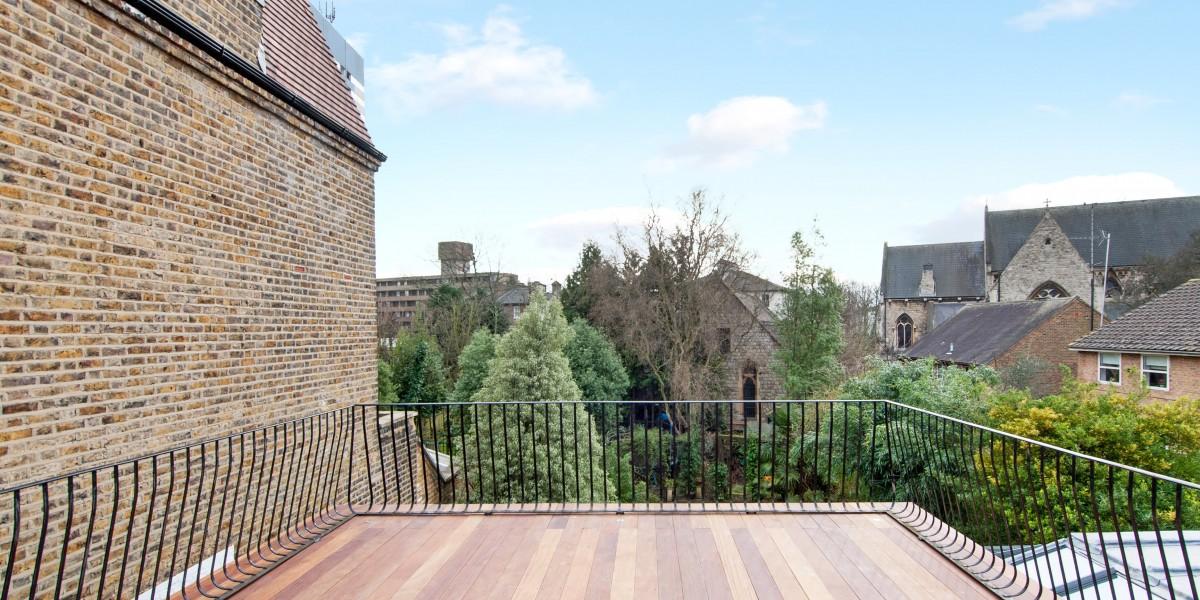 Roof terrace, Goldhurst Terrace apartment refurbishment
