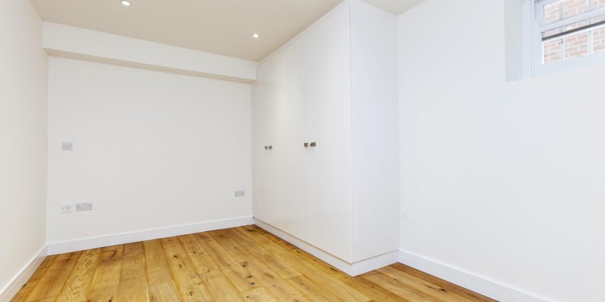 Bedroom Mowbray Road flat refurbishment