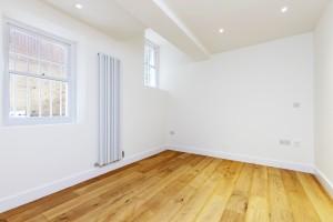 Mowbray Road flat refurbishment featuring wall mounted radiator