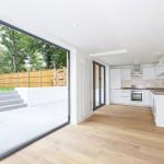 Kitchen and garden Mowbray Road flat refurbishment