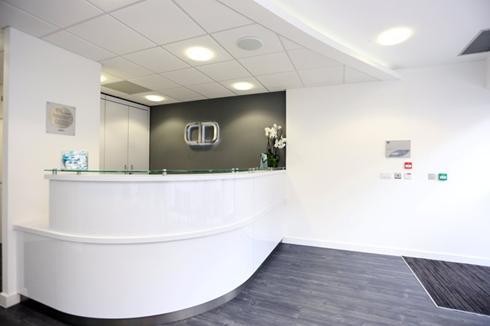 Reception, Charles Landau Dental Practice Refurbishment