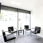 Waiting room, Charles Landau dental practice refurbishment