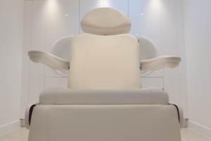 Treatment chair in Harley Street surgery interior design