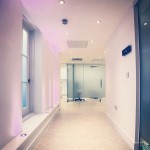 Hallway in Harley Street surgery interior design