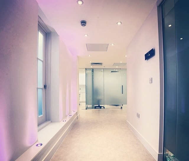 Hallway in Harley Street surgery interior design