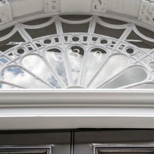 Front window, Harley street listed building refurbishment