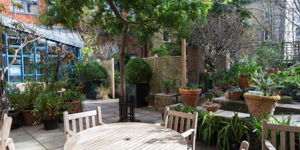 Garden area in Museum of Brands in London
