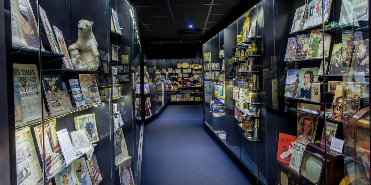 London museum of brands new display cases after commerical refurbishment