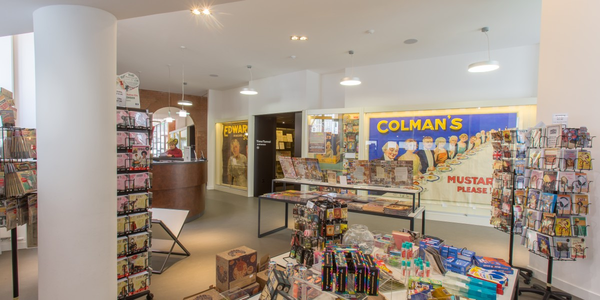 Gift shop after commercial Interior Design museum of brands