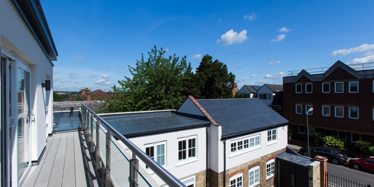 Top floor balcony at Cornwall Works