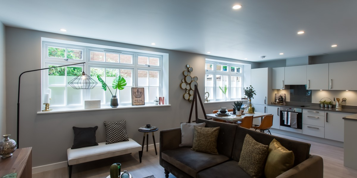 Interior shot of finished flat at Cornwall Works