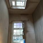 Freshly plastered room at Cornwall Works