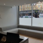Waiting area at The Dental Centre, Euston Road, London