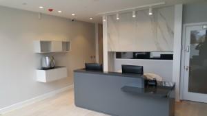 Reception at The Dental Centre, Euston Road, London