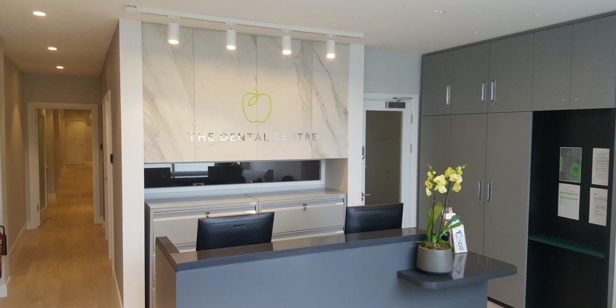 Reception of new Euston Road dental surgery after dental practice fit out