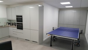 Staff recreational area of retail office fit out