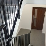 Staircase of commercial project at Finchley Road, London
