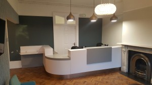 Reception desk at the Dental Centre, Tulse Hill