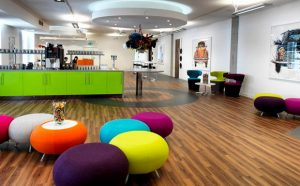 Fun and colourful office environment