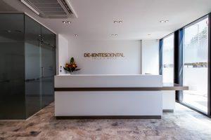 Clinic reception desk ideas by Apollo Interiors