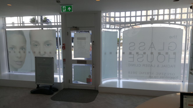 The Glasshouse aesthetic clinic inside shopfront