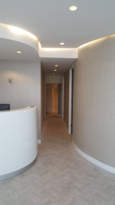 Interior shot of the Glasshouse aesthetic clinic in Wimbledon, London