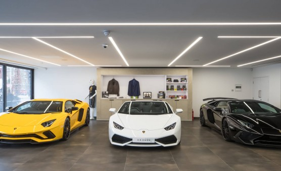 Designing a luxury car showroom