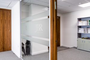 Glass partition at JBR Capital, Finchley Road, London