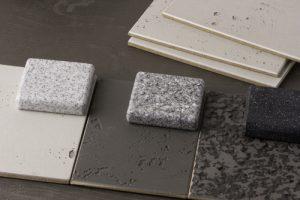 Stone effect Corian samples