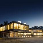 sustainably built wooden building