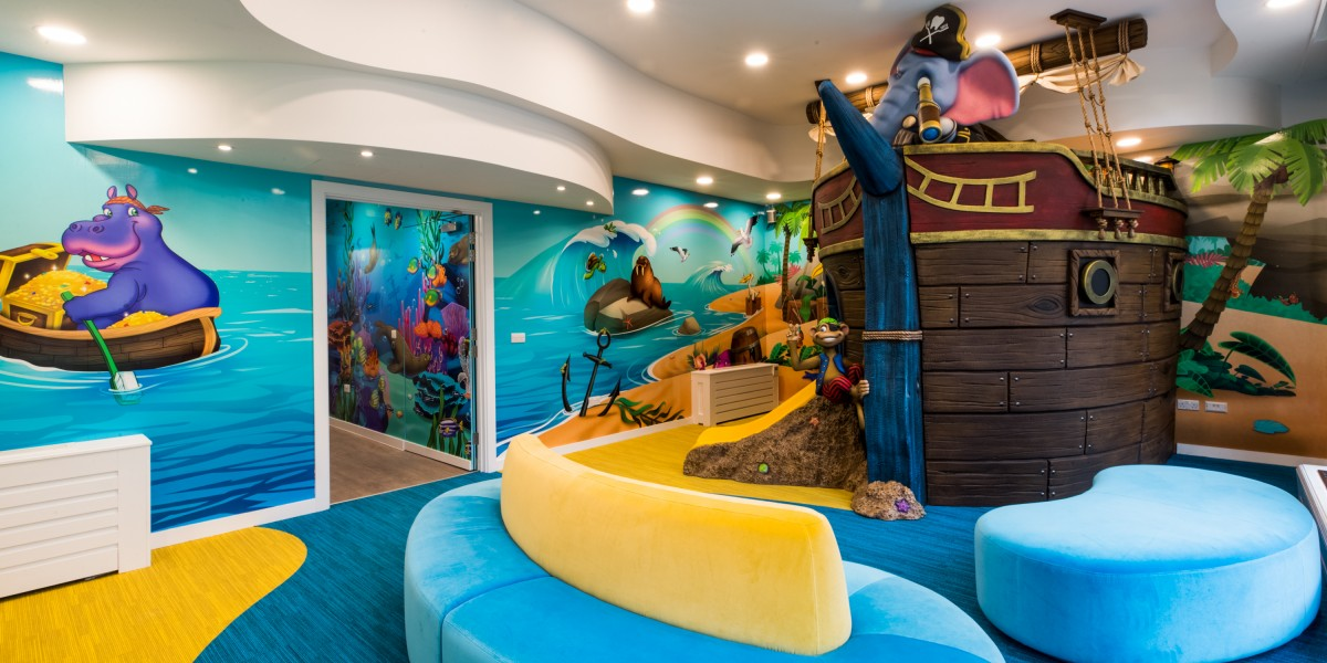 Waiting area with pirate ship at Happy Kids Dental, Chelsea