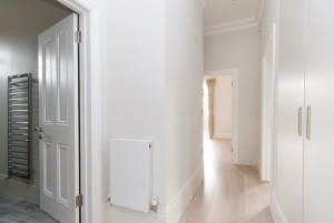 Hallway and cupboard, Goldhurst Terrace apartment refurbishment