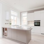 Island unit in kitchen, Goldhurst Terrace apartment refurbishment