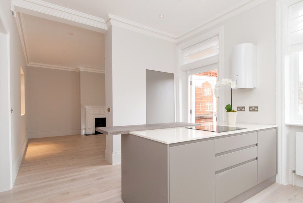 living room and kitchen high end residential contractors London