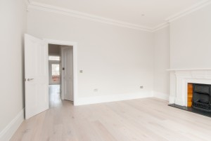 Living room, Goldhurst Terrace apartment refurbishment