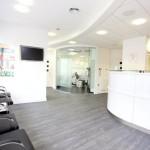 Waiting room, Charles Landau dental practice refurbishment