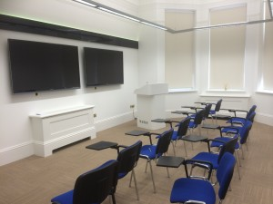 Lecture theatre in Harley street surgery interior design