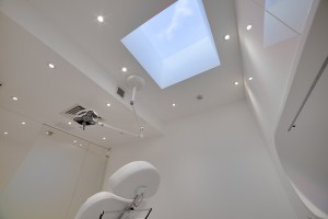 Treatment room in Harley street surgery interior design