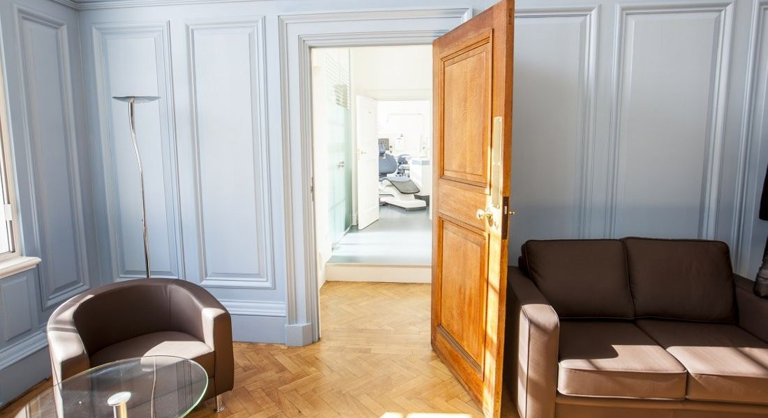 Doorway to surgery in South Bank hall interior design