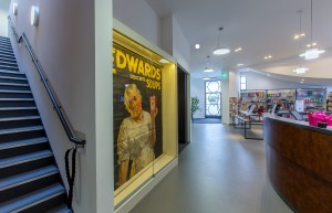 Edwards Soup display in in new gift shop area following commercial fit out museum of brands london