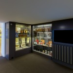 Museum of Brands Johnnie Walker display cases and screens after refurbishment