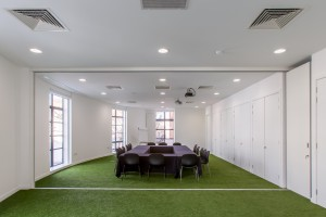 conference room with grass feature commerical fit out