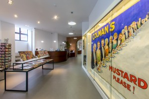 Museum of brands Colmans mustard display commerical fit out