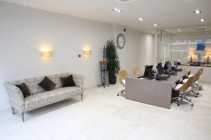 chelsea square office waiting area