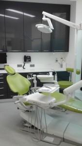 Green dentist chair